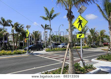 Modern Pedestrian Crosswalk