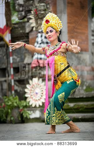 BALI, INDONESIA, DECEMBER, 24,2014: Barong Dance show, the traditional Balinese performance on December 24, 2014 in Bali, Indonesia
