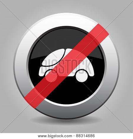 Gray Chrome Button - No Car