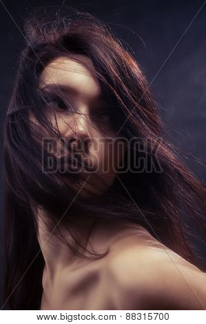 Woman With Fluffy Hair