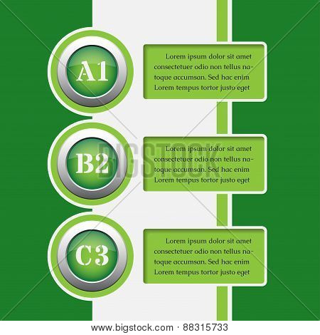 Green Infographics Banners - Design Templates