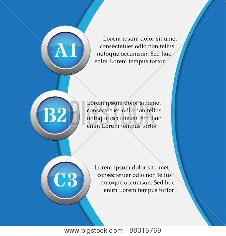 Blue Infographics Banners - Design Templates