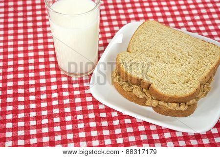 peanut butter on whole wheat