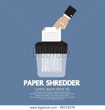Paper Shredder Machine.