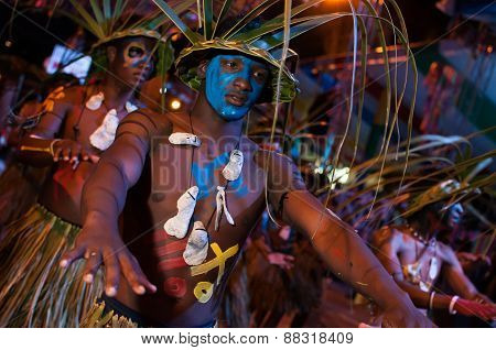 Dancers In The Carnival Parade Of Santo Domingo