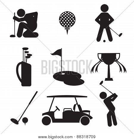Golf Icon Set.