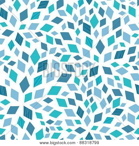 Vector blue mosaic texture seamless pattern background