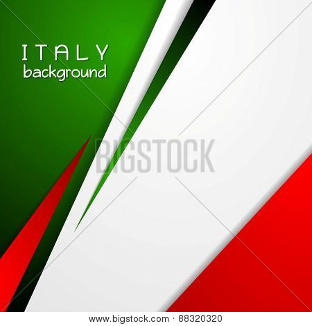 Corporate bright abstract background. Italian colors. Vector design