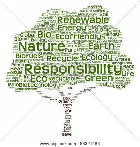 Vector Conceptual green tree made of ecology, recycle or energy