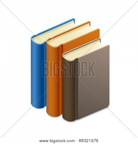 Group of books. Library concept. Vector illustration