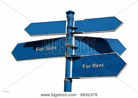 Sale And Rent Themed Street Sign