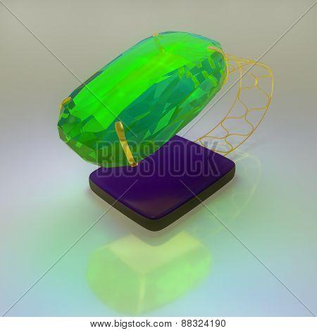 Emerald in Rimmed