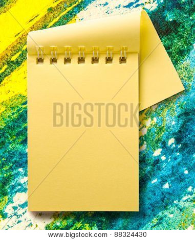 Open Blank Yellow Notepad