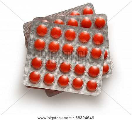 Tablets In Plastic Packing