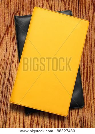 Yellow Blank Book On White