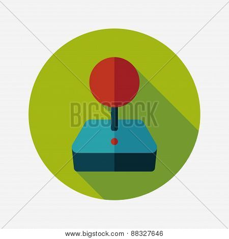 Joystick Flat Icon With Long Shadow,eps10
