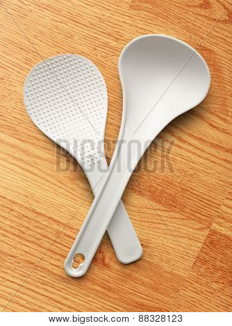 White Spatula And Ladle