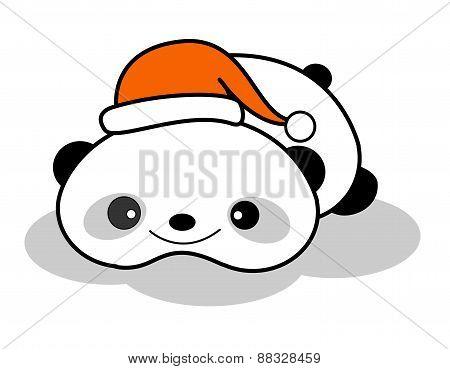 Panda With Santa Hat