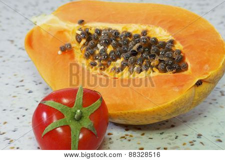 Papaya and tomato