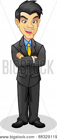 Businessman Vector Cartoon Illustrations