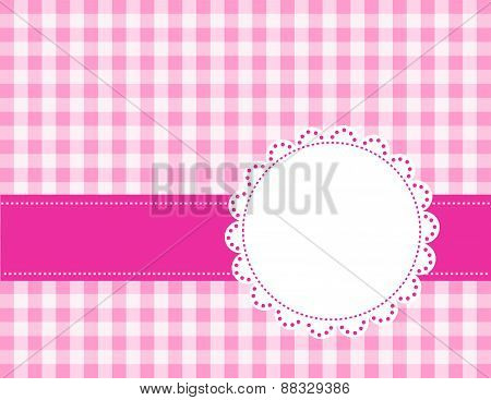 Gingham Pattern With Lace Frame