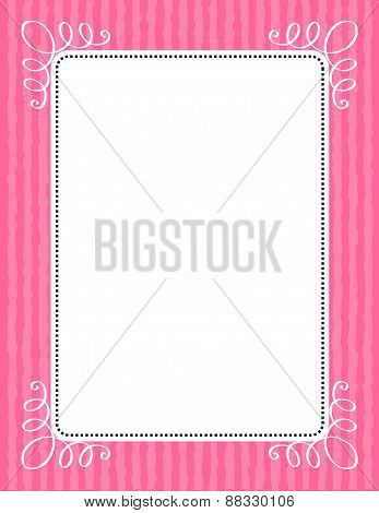 Pink Stripes And Swirls Frame