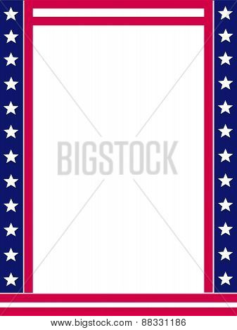 Usa Patriotic 4Th Of July Frame
