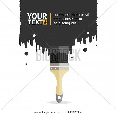 Vector brush background white and black