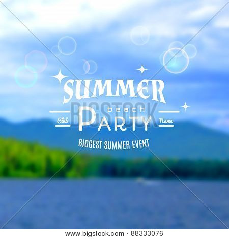 Summer Party Realistic Badge. Eps10
