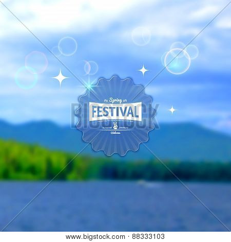 Festival Summer Realistic Badge. Eps10