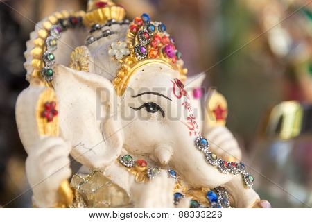 Ganesh ,elephant God, Figure Closeup