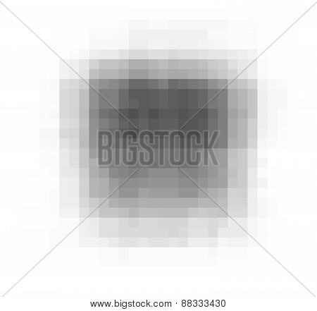 Pixel Grunge Vector Black Stain Over White