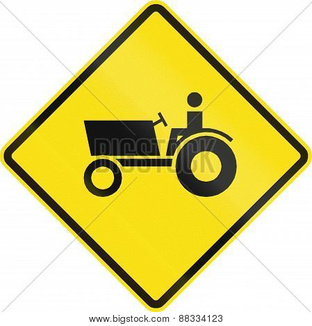 Tractor Crossing In Chile