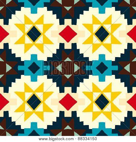Native american geometric pattern
