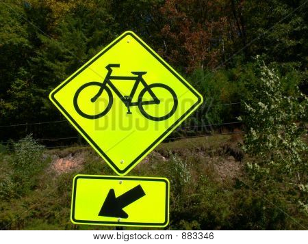 Bike Sign Clipping Path
