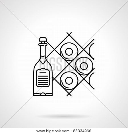 Black line vector icon for wine