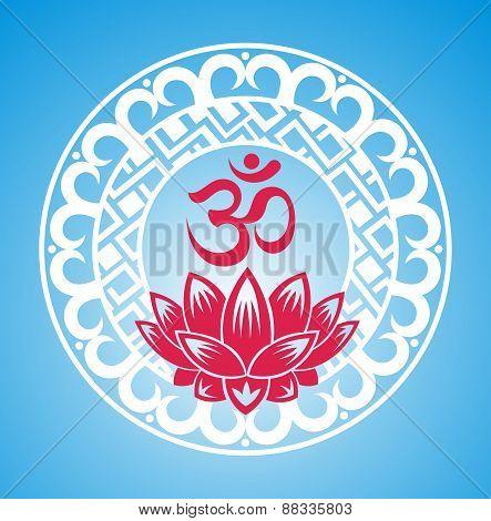 Esoteric symbol.Lotus