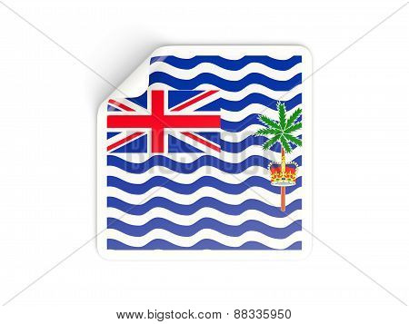 Square Sticker With Flag Of British Indian Ocean Territory