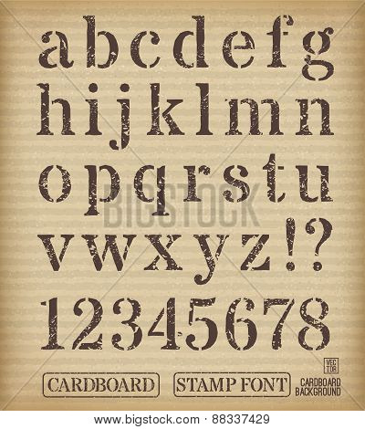 Alphabet old stamp style