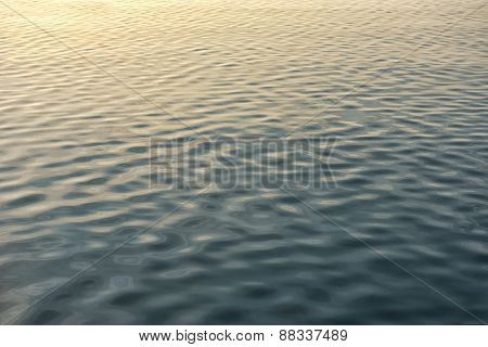 Water surface closeup