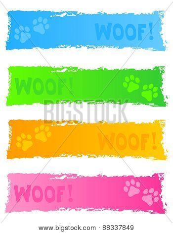 Dog Theme Web Banner