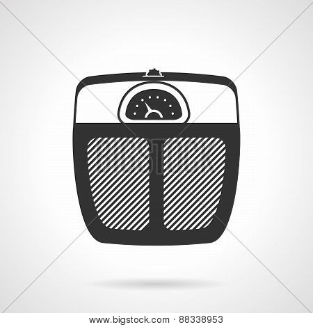 Floor scales black vector icon