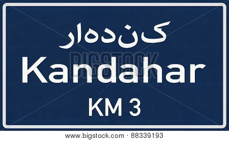 Kandahar Afghanistan Highway Road Sign