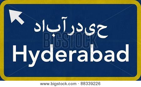 Hyderabad Pakistan Highway Road Sign