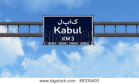 Kabul Afghanistan Highway Road Sign