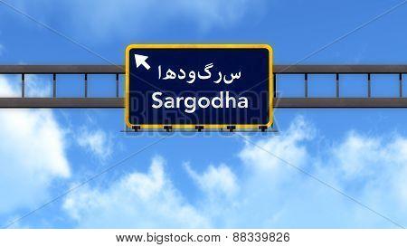 Sargodha Pakistan Highway Road Sign