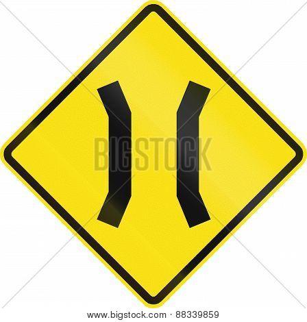 Narrow Bridge Symbol