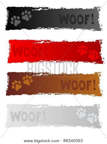 Dog Themed Web Banners