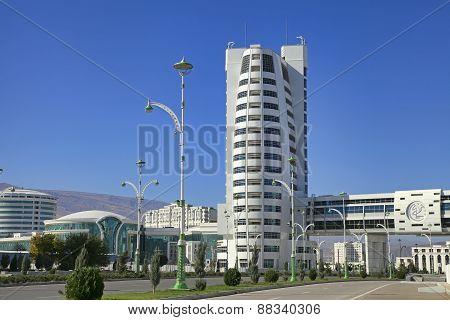Ashgabat Turkmenistan - October 23 2014: Part of the complex - Olympic Village (Ashgabat 2017).