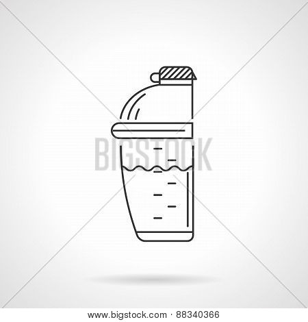 Supplements shaker vector icon